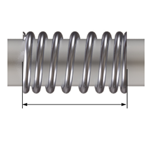 Compression Spring 5 lbs Load Capacity 0.045 Wire Size 0.5 Free Length 0.6 OD 302 Stainless Steel Pack of 10 0.257 Compressed Length Inch 20.58 lbs//in Spring Rate